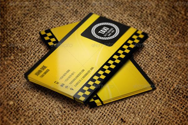 sample taxi business card
