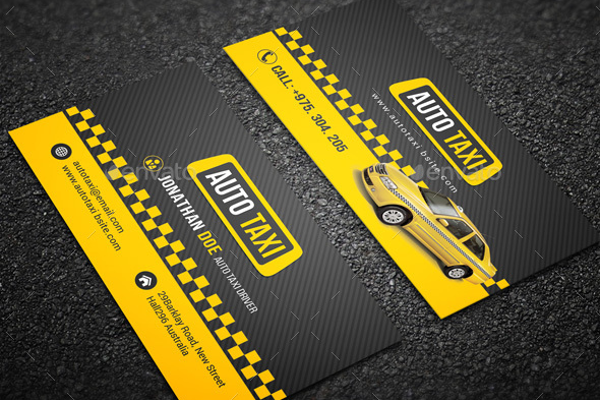 taxi business card printing