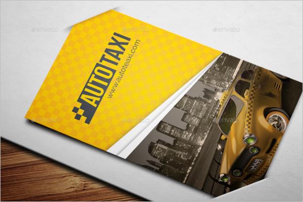 taxi business card template psd