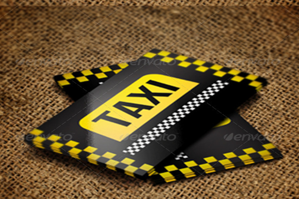 taxi name card template