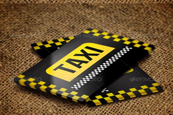taxi name card template
