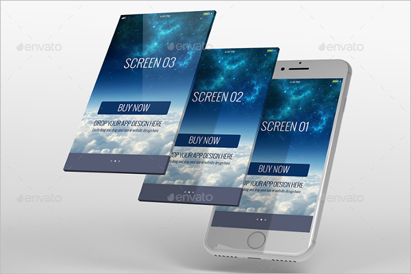 3D Mobile Display MockUp