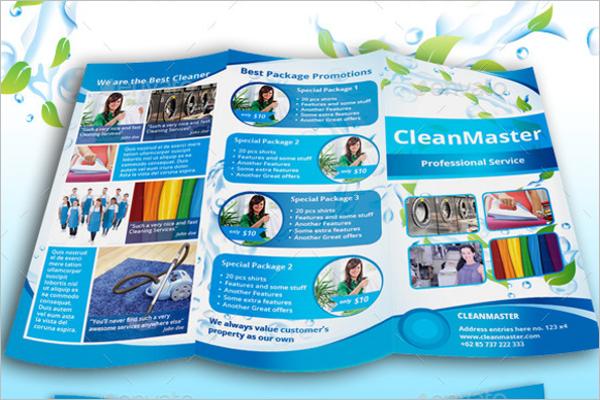 A4 Laundry Brochure Design