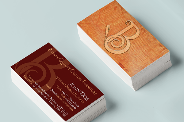 Abstract Custom Business Card Design