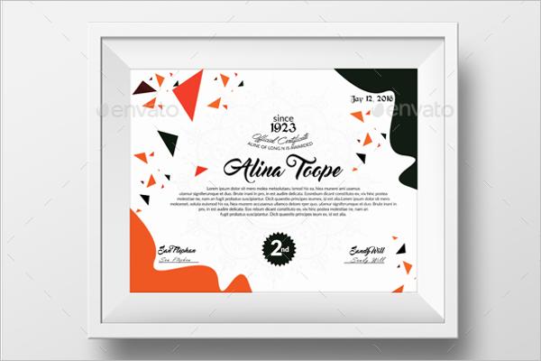 Academic Certificate Format