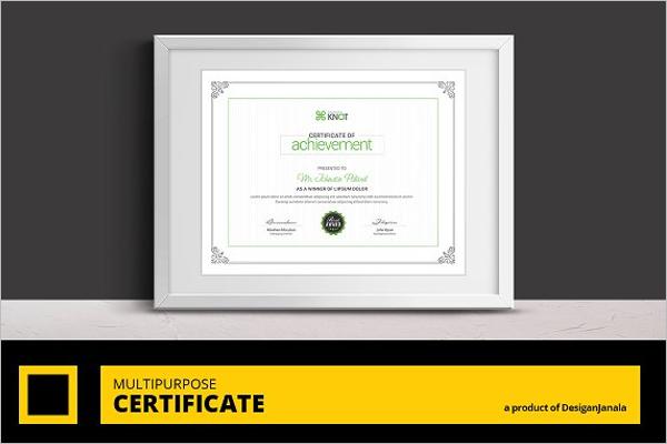 Academic Certificate Template Word
