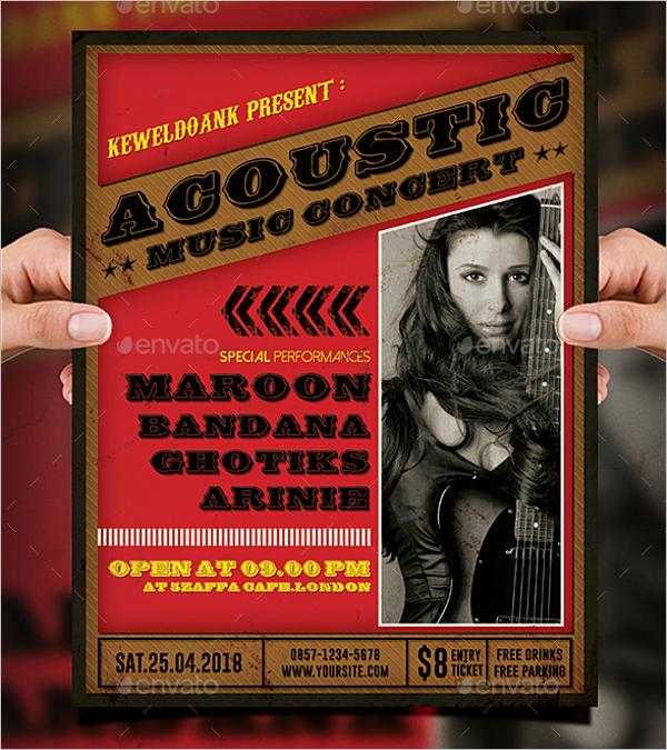 Acoustic Concert Flyer Template