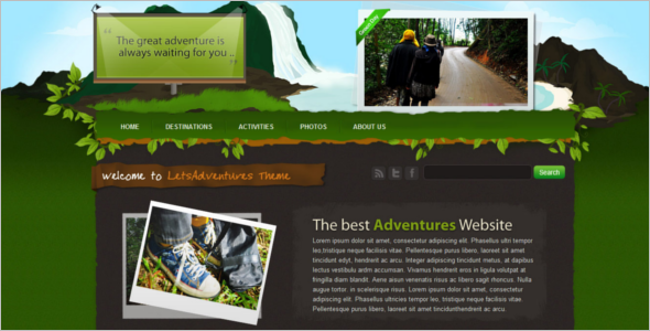 Adventure CSS Website Template