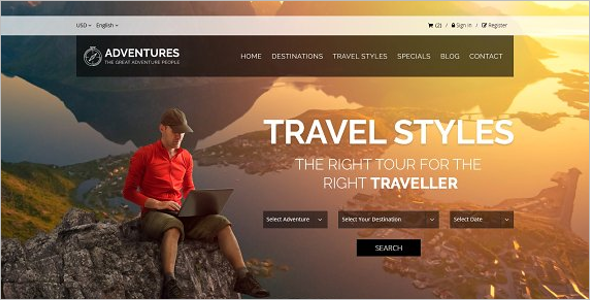 Adventures Tour Website Template