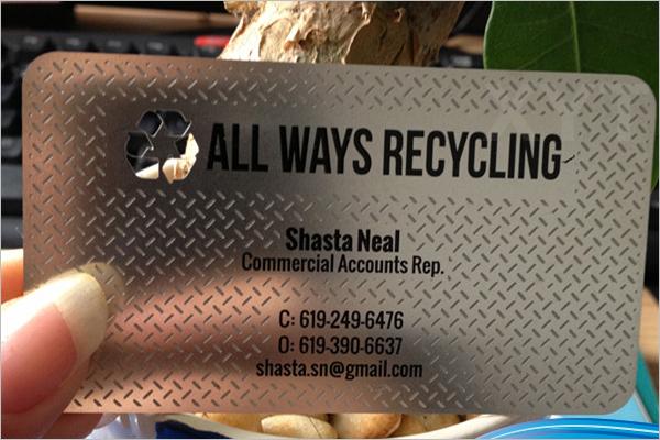 Advertising Business Card Design