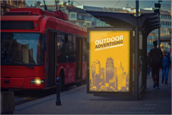 Advertising Poster Mockup Design