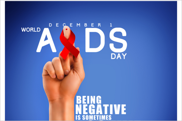 Aids Day Campaign Poster Template