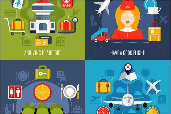 Air Travel Icon Design