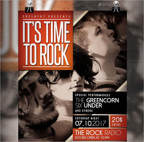Alternative Band Event Flyer