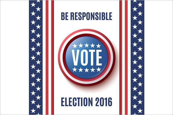 American Election Poster Design
