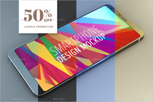 Android Smartphone Design Mockup