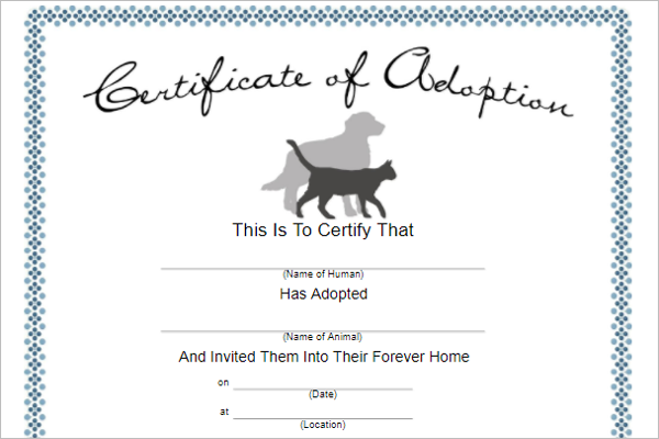 adoption certificate template - 17 adoption certificate templates free pdf word design