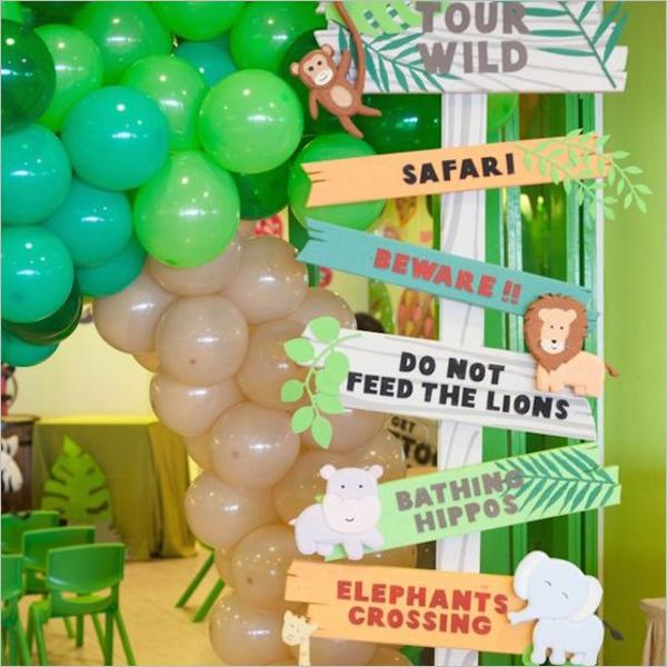 Animal SafariBirthday Party Idea