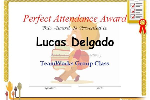 Attendance Certificate Letter