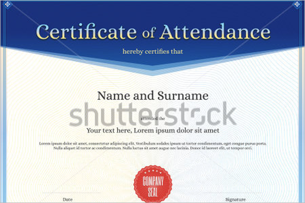 18 attendance certificate templates free word psd formats attendance certificate template yadclub Gallery