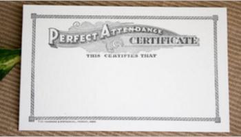 Attendance Certificate Templates