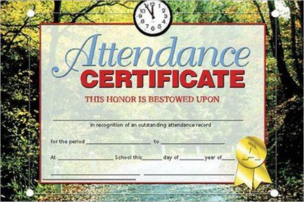 Attendance Certificate for Teachers