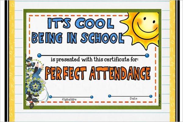 Attendance Award Certificate Template