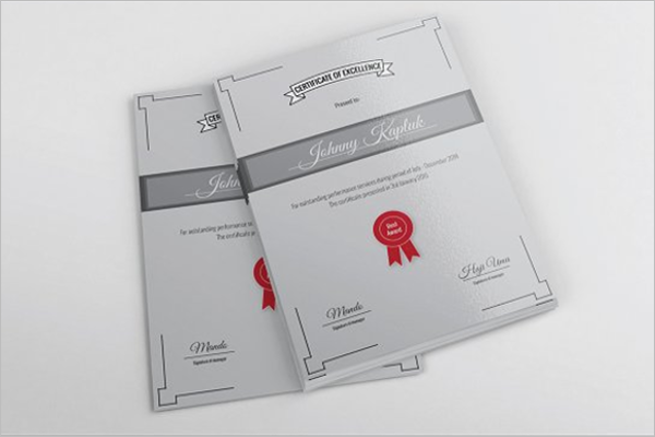 Award Certificate Template Psd