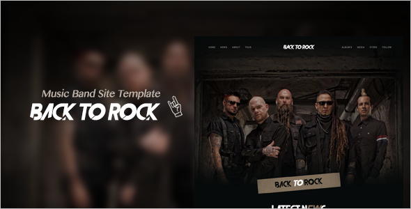 Awesome Music Band Site Theme