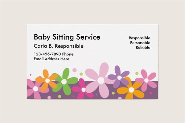 Baby Care Business Card Template