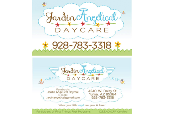 20 daycare business card templates free design ideas baby sitting business cards colourmoves