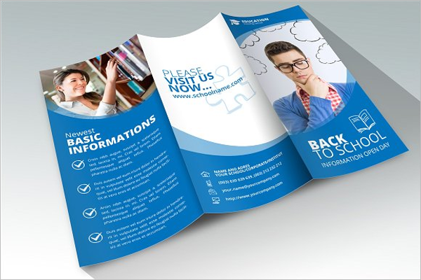 30 educational brochure templates free psd word designs for Back to school brochure