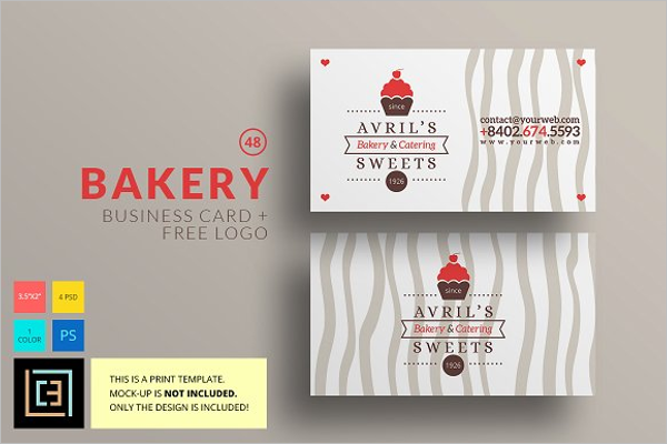 41 bakery business card templates free vector design ideas. Black Bedroom Furniture Sets. Home Design Ideas