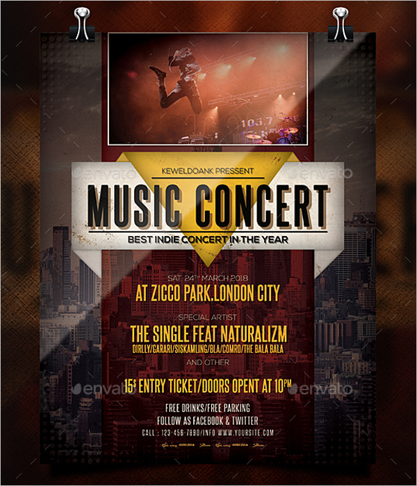 Band Concert Poster Template