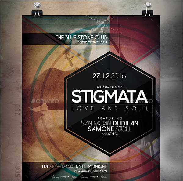 32 band flyer templates free word psd designs