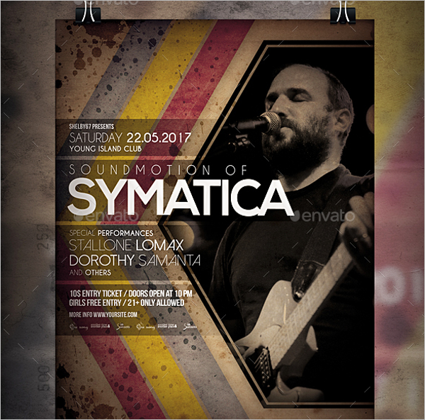 Band Flyer Template PDF