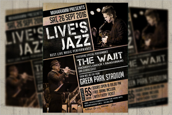 Band Poster Background Design