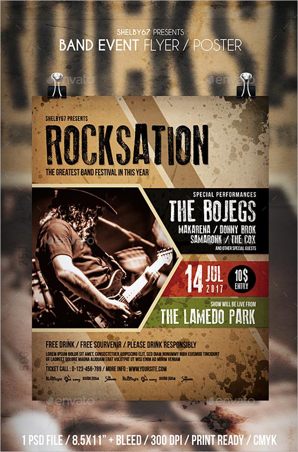 Band Poster Template Photoshop