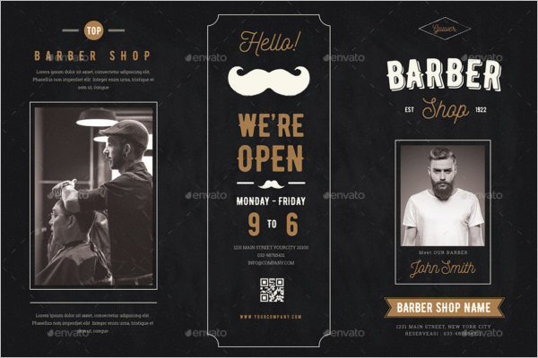 Barbershop Brochure Template