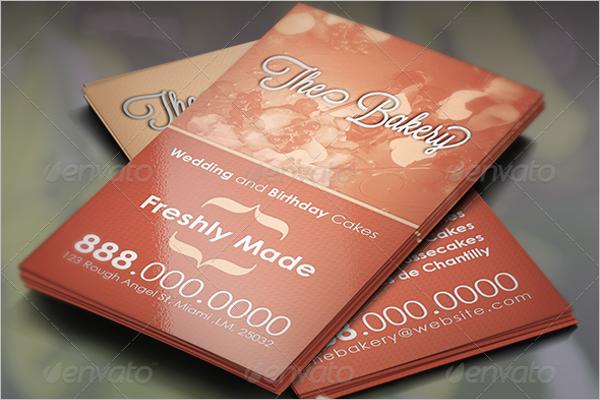 Beautiful Bakery Business Card