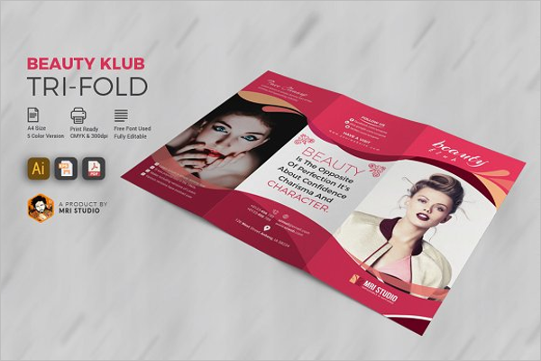 Beauty Club Salon Brochure Template
