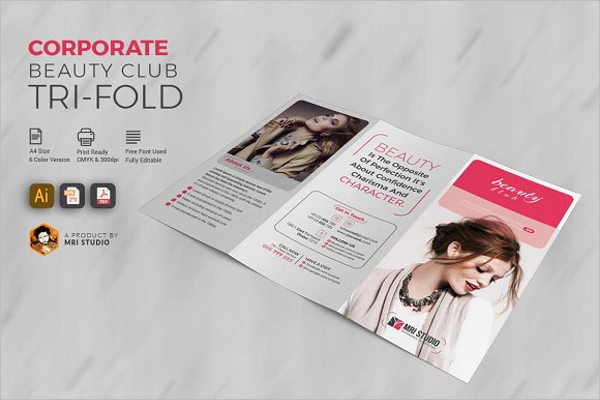 Beauty & Hair Salon Brochure Template