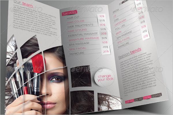 Beauty Parlour Advertisement Brochure