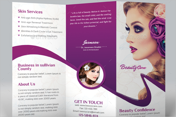 Beauty Salon Brochure Template