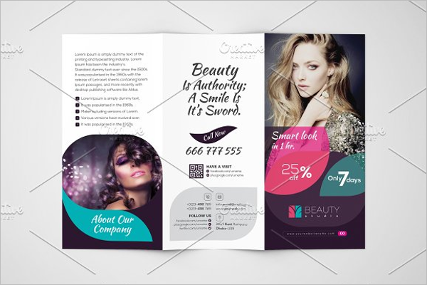 Beauty Studio Tri-Fold Template