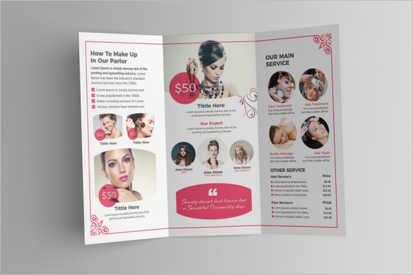 Best Beauty Parlour Brochure Template