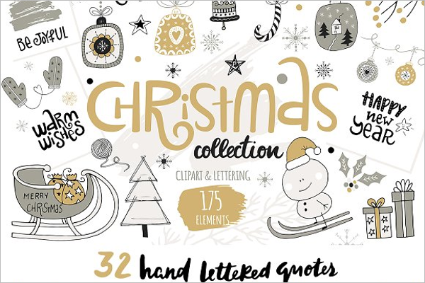 Best Christmas Collection Vector Design