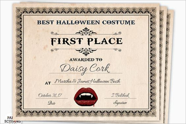 Halloween Costume Certificate Template from images.creativetemplate.net