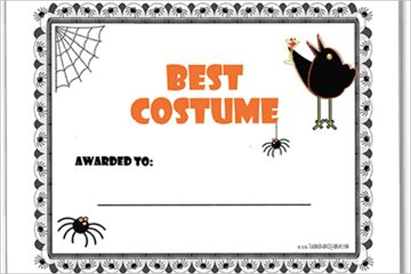 18 halloween certificate templates free printable word designs best halloween certificate template yelopaper Images