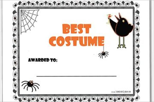 Best Halloween Certificate Template